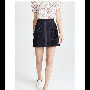 Veronica Beard Rinko Skirt Navy 6